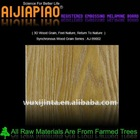 Melamine board with synchronous wood grain