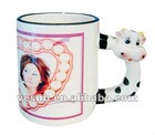 Sublimation coated Animal Mug-11oz-Dog