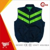 Sleeveless Hi Viz Reflective Safety Motorcycle Jacket With Zipper and Pockets