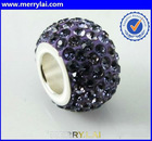 stainless steel components shamballa beads wholesale( ML-12-YL1204-4)