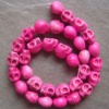 pink Turquoise Skull Loose Beads