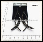 alloy diamond fashion earrings F43822