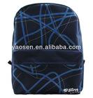 2012 fashion blue printing school backpacks for boys