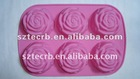 Silicone bakeware rose cake mould