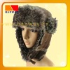 Fashion plaid winter trooper hat with fake fur lining and earflap