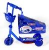 3 wheel blue kids scooter