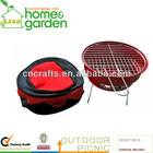 red color folding charcoal grill