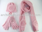 Sweet big flower knit set