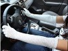 black and white summer driving gloves