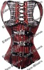Goth Red/Black Stripe Underbust Latest Style Sexy Lingerie Bustier ,Manufacture Direct, Clubwear Corset Lingerie Bustier