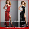 LND22 Red and Black Long sexy sequin prom evening dress