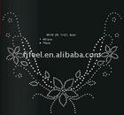 Rhinestone (nailhead) hot fix motif sticker for garment