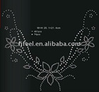 Rhinestone (nailhead) hot fix motif sticker for garment