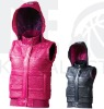 PEAK F4141012 Lady Thick Padded Vest Jacket with Hood