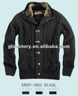 Winter casual sweater for Men of twist design and fur collar for 2013AW