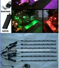6pc mulit color LED 5050 Flexible Motorcycle Lighting Kit with remote