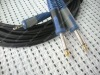 "Dual color moulded , 2*1/4"" Mono JACK to 1*1/4"" Stereo audio cable ,"