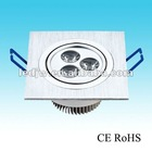 110V 220V 3W aluminium led ceilling lamp