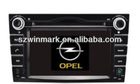 2 din 6.2 inch in dash special digital car dvd player for OPEL with gps
