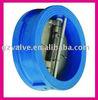 Wafer tu[e dual plate check valve