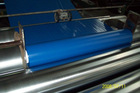 Blue PVC soft film