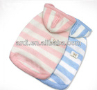 latest design stripe Cute pet sweater zipper dog hoodie sweater