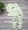 2011 autumn baby clothes set 100% cotton embroider sleepwear