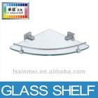 Triangle glass shelf