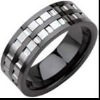new style tungsten ring, High quality tungsten & ceramic jewelry, Black IP Jewelry