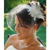 LV266 beautiful white wedding bridal/party/evening birdcage veils, elegant hats