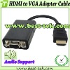 HDMI Male to VGA Female Cable for Connecting Notebook to Projector or Monitor use