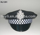 Party Hat For Police black party police hat with white