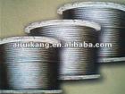 Asphalt-greased ungalvanized steel wire rope