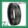 Cer137 Black Ceramic laser some patterns purity rings
