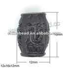 Cinnabar black Beads 0340