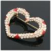 new fashion heart rhinestone brooch