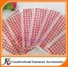 red adhesive acrylic rhinestone gem sticker