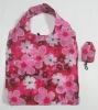 full color flower design printing nylon folding shpping bag