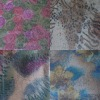 Allover 3MM sequin /spangle with paper print on embroidered /embroidery fabric