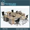 PG- T03 modern office 4 seater compound table