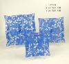3pcs set blue square glass fruit plate with decal printing