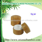 plastic bottle packaging bamboo face/eye cream jar OEM