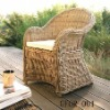 Aluminum Round Rattan Dining Chair