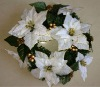 45cm Hot-sell White Christmas Wreath 60 Tips