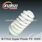2012 diamete 17mm super power full spiral 105w energy saving lamp