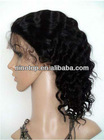 Hair wig deep wave 10 inch #1B natural black