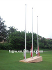 Manual operated tapered flagpole, flagpole kit