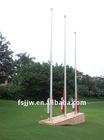 Manual operated tapered flagpole, flagpole kit