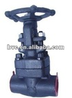 Manual weld straight-through forged gate valve