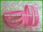 2012 Custom silicon slap bracelet fit for any body